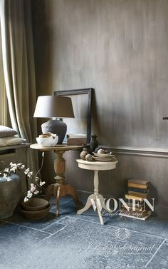 Lime Paint Hazelnut Butter on the wall. Warm Welcome published: WONEN Landelijke Stijl 2013-03 photos: SvHove