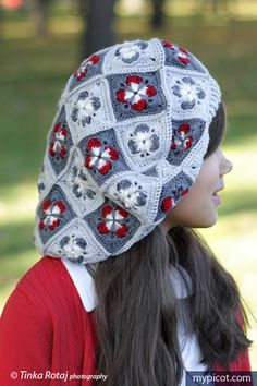 @ MyPicot - Free croche hatt pattern  - cute motif, woweeeee this is divine, thanks so xox ☆ ★   https://www.pinterest.com/peacefuldoves/