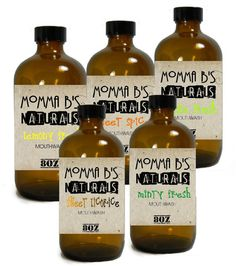 All Natural Essential Oil Mouthwash Essential by MommaBNaturals, $8.99