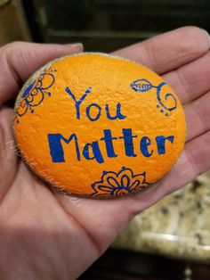 You matter kindness painted rock #paintedrocks #kindnessrocks