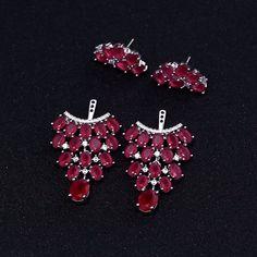 Ruby Chandelier Earring Jackets