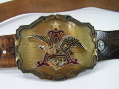 vintage anheuser busch budweiser belt  30 31 32 33 by moivintage, $79.99