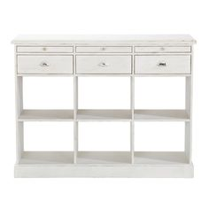 Wooden counter unit in ivory ... - Garance
