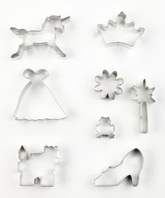 Too cute! For that Princess who likes to bake...Fairy-Tale Cookie Cutter Set