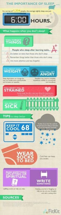 The importance of sleep. #health #fitness