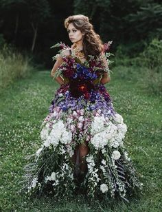 ❀ Flower Maiden Fantasy ❀ beautiful photography of women and flowers - exquisite flower dress