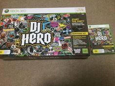 Microsoft XBOX 360 DJ-Hero Turntable + Game