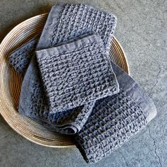 organic cotton lattice towels