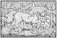 Unicorn Line Art Coloring Page Free Unicorn Clip Art Pictures