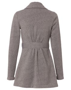 Miss Shop - French Terry Trench in Charcoal ($69.95) from myer.com.au