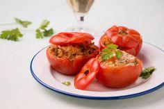 En famille: Tomates farcies à la grecque