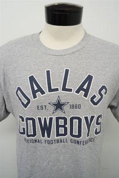 54f8f58d2d7  Dallas Cowboys Team Apparel Gray  NFL Short Sleeve  Football T-shirt M