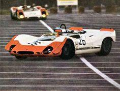 (26) Vic Elford - Porsche 908/02 - Tony Dean - (23) Rolf Stommelen - Porsche 908/02 - Porsche Salzburg - 1969 Norisring 200 Miles - Non Championship Race