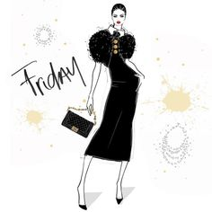 I'm OBSESSED with Check out her page Someday my dream studio will be plastered with her artwork! Megan Hess Illustration, Illustration Art Drawing, Hello Friday, Happy Friday, Fashion Model Sketch, Fashion Sketches, Kerrie Hess, Insta Image, Fashion Wall Art