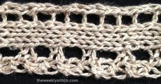 This lace edging comes from Weldon's Knitted Edgings and Insertions No. 442, Vol. 37. I am using it for a shawl knit with my Silk Camel...