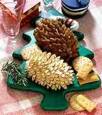Pinecone cheese ball. Trying to imagine how long this would take.