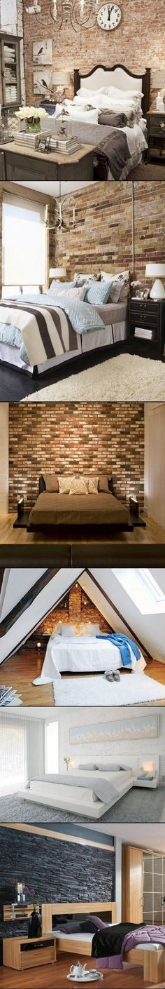 DIY Ideas To Decorate A Brick Wall Behind Your Bed
