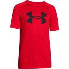 Under Armour Boys' Big Logo Tech T-Shirt, Size: Medium, Red