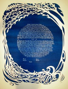 Ketubah. Sadly, the Etsy vendor is totally booked up through June. Still love the idea through.