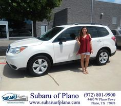 https://flic.kr/p/KttSpn | Happy Anniversary to Kristen on your #Subaru #Forester from Daniel Guerrero at Subaru of Plano! | deliverymaxx.com/DealerReviews.aspx?DealerCode=K252
