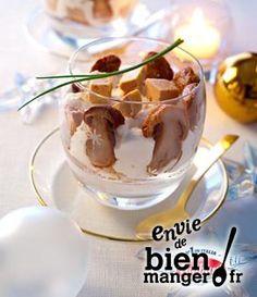Tiramisu aux cèpes et foie gras à l'huile de truffe