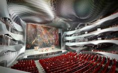 Designed by Coop Himmelb(l)au. Coop Himmelb(l)au has come up with an incredibly unique design for the new Grand Theatre and International Culture & Art Center. Theatrical Scenery, Theater, 3d Architecture, Zaha Hadid Architects, Chinese Garden, Himmelblau, Stage Design, Theatre Design, Booth Design