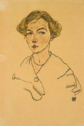 Impressionist & Modern Art Day Sale   Sotheby's  EGON SCHIELE PORTRÄT EINER FRAU (LILLY STEINER) (PORTRAIT OF A WOMAN (LILLY STEINER)) Estimate   250,000 — 350,000 Lot Sold   305,000 GBP