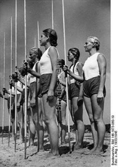 Picture Photo League of German Girls Band of German Maidens German Bund 2523 Ww2 Women, Military Women, Military History, German Women, German Girls, Raza Aria, Leni Riefenstahl, Erwin Rommel, Germany Ww2