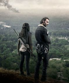 New promotional picture of Rick Grimes and Michonne for The Walking Dead, Season 6B