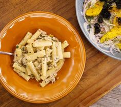 Creamy Sicilian Ziti with Tuna, Capers and Green Olives