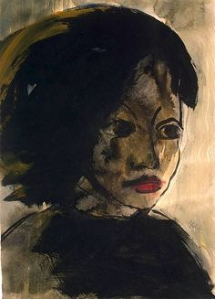 Portrait of a Young Girl, 1914 by Emil Nolde