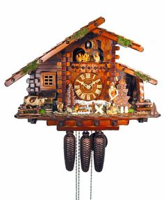 Chalet Cuckoo Clocks Cuckoo Clock 8-day-movement Chalet-Style 36cm by August Schwer