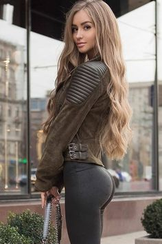 High Waisted Leggings for Women - Soft Athletic Tummy Control Pants for Running Cycling Yoga Workout - Reg & Plus Size Sexy Outfits, Fall Fashion Outfits, Jean Sexy, Hipster Girls, Up Girl, Photography Women, Gorgeous Women, Beauty Women, Cool Girl