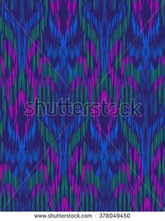 seamless vector ikat pattern. beautiful ethnic ornament, textile tradition coloring technique. vertical stripes and brush strokes form a geometrical ornament.
