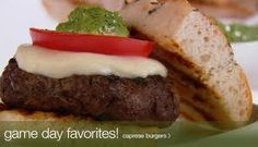 Making these tonight! http://giadadelaurentiis.com/recipes/799/caprese-burgers