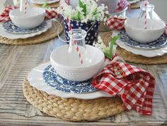 Home by Heidi: 4th of July...Red, White, and Blue Table