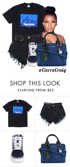 """""""Street Style"""" by cierracraig ❤ liked on Polyvore featuring Vans and Alexander McQueen"""