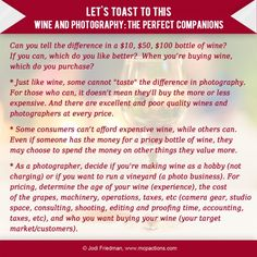 """Don't """"Wine"""" About Photography"""