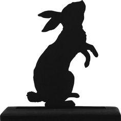 Standing Rabbit Handmade Wood Display Silhouette by mountainbrook  Silhouette Clip Art ef8a6e7575d8
