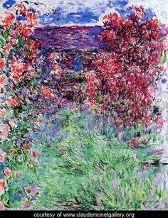 The House Among The Roses 2 - Claude Oscar Monet - www.claudemonetgallery.org