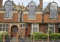St Paul's Studio's: Talgarth Road, London. Design by Frederick Wheeler in 1890. I recall driving past this in the way in to central London from Heathrow and thinking what a fascinating building it was!