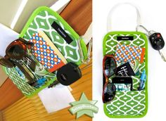 How to Sew a Door-Knob Caddy - Free Tutorial by S4H + Using a Plastic Ruler as Seam Guide - by Kevin Sews