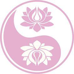 Pink lotus Yin und Yang – Vektorgrafik