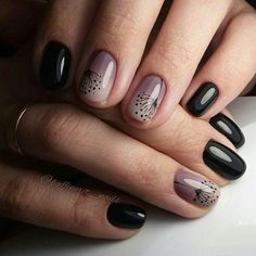 The Best Nail Art Designs – Your Beautiful Nails Cute Nails, Pretty Nails, My Nails, Black Ombre Nails, Black Manicure, Black Nail, Popular Nail Art, Nagel Gel, Gorgeous Nails