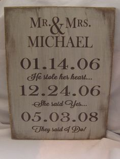 Personalized Rustic Wedding or Anniversary by ExpressionsNmore, $39.95