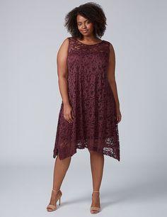Sleeveless Lace Swing Dress | Lane Bryant