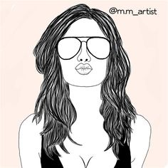 art, drawing, fashion, hair, outline, outlines, summer, sun ...