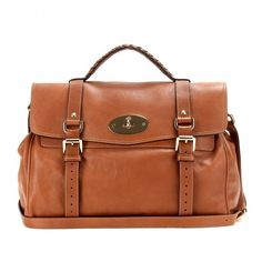 Mulberry Alexa Brown Leather Satchel bf62b84887368