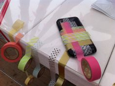 Smart Phone deco idea.  MT Masking tape workshops at the Libelle Zomerweek 2013. with special thanks to: www.thomasmerlopartner.ch