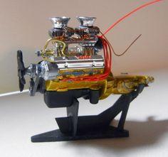 Model Car Builder Blog: 66 Nova--Engine and Details